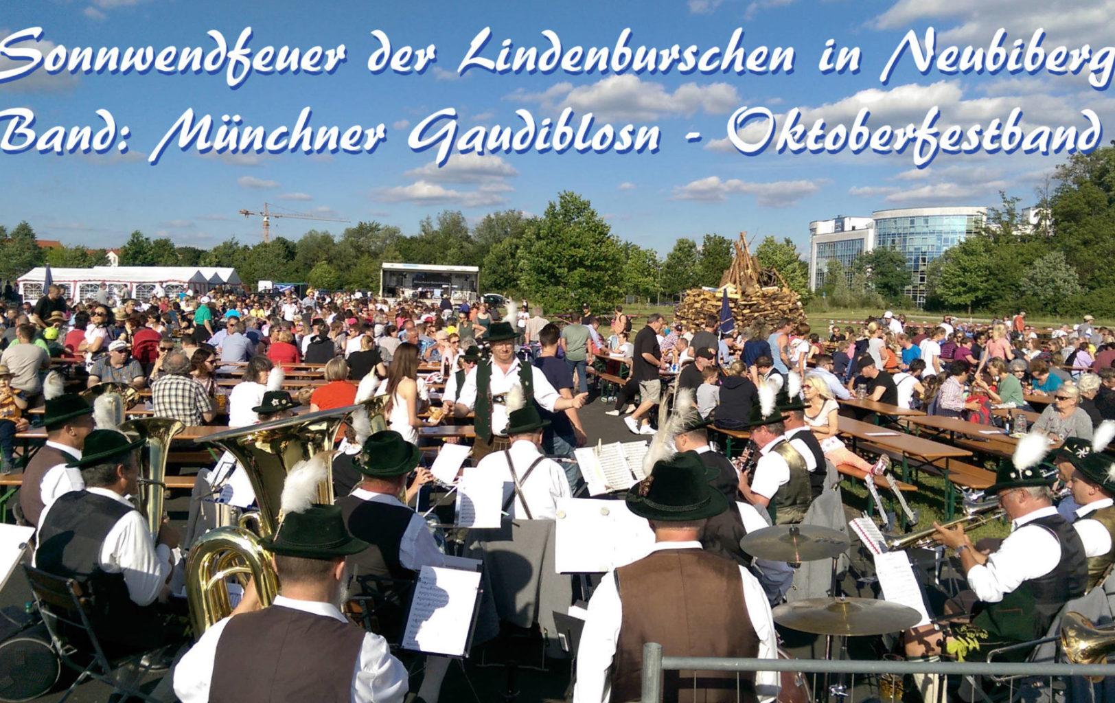 Sonnwendfeier Neubiberg Oktoberfestband Baudiblosn